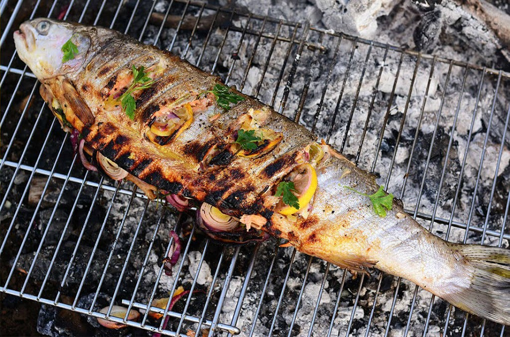 Grilled Indian Spiced Trout